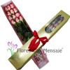 Caja Flores con mensaje