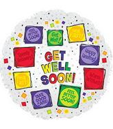 Globo redondo Get well soon 114865
