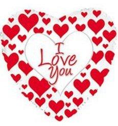 I love you, corazones rojos