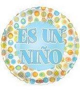 Globo redondo Es un niño 39838