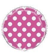 Globo rosado con puntos blancos 55570