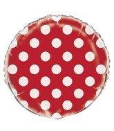 Globo rojo con puntos blancos 55578