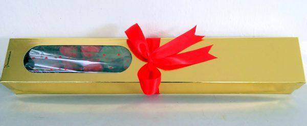 A4 Caja de 12 rosas con mensaje