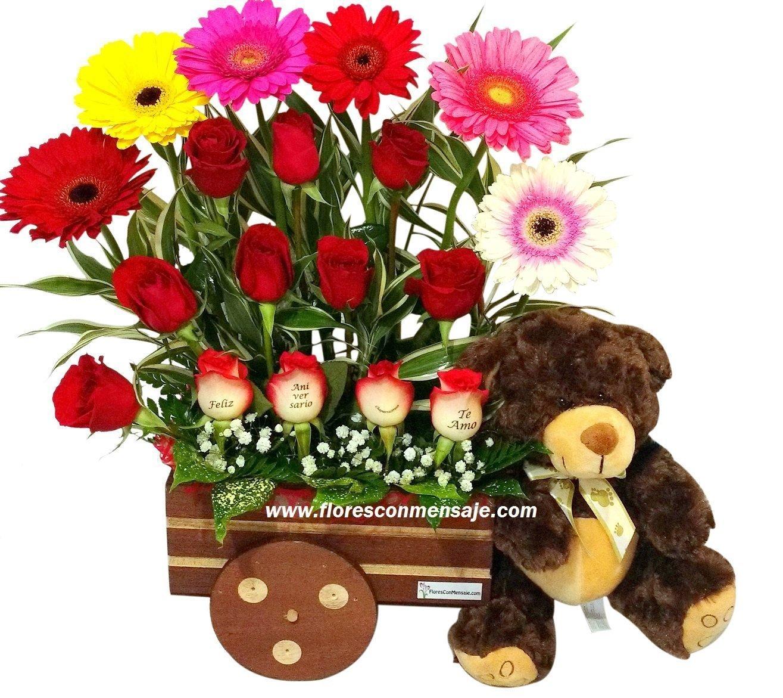 K3 Carreta De Flores Con Peluche