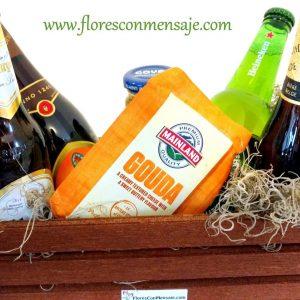 Detalle con cervezas europeas